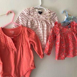 6-12 mo Baby Gap Tops Bundle